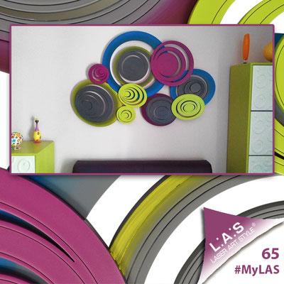 A casa di Valentina <br> Abitazione privata | Italia </br> Codice: SI-183 | Misura: 150x60 cm <br> Colore: antracite - decoro multicolor