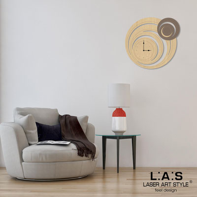 Wall clocks </br> Code: MW-297 | Size: 65x60 cm </br> Code: MW-297L | Size: 95x90 cm </br> Colour: grey wood-dove grey-wood engraving
