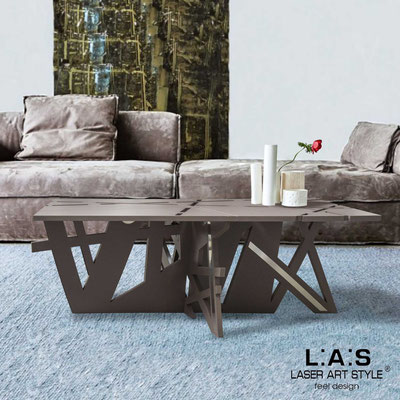 Furnishings </br> Code: SI-295   Size: 100x60 h40 cm </br> Colour: dove grey-inox steel-matched engraving