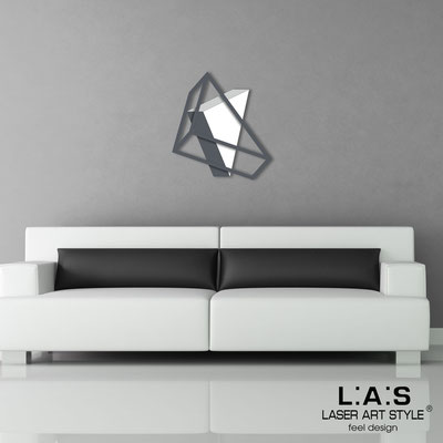 Abstract wall sculptures </br> Code: SI-303 | Size: 60x65 cm </br> Colour: white-light grey-charcoal grey/charcoal grey