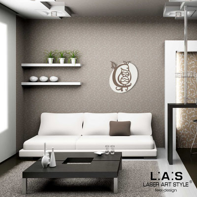 Figurative wall sculpture </br> Code: SI-240L | Size: 60x67 cm </br> Code: SI-240XL | Size: 81x93 cm </br> Colour: cream-dove grey