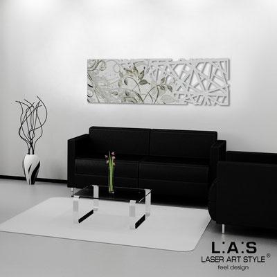 Quadri Astratti </br> Codice: SI-110-B | Misura: 148x50 cm </br> Colore: argento-incisione nero