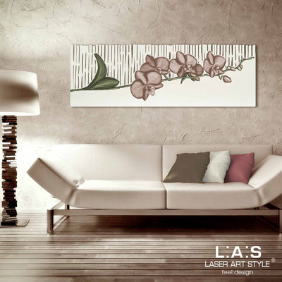 Floral wall sculpture </br> Code: SI-087-B | Size: 148x50 cm </br> Colour: cream-dove grey decoration-matched engraving