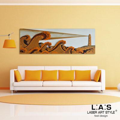 Quadri Figurativi </br> Codice: SI-176 | Misura: 180x60 cm </br> Colore: panna-arancio medio-decoro toni caldi-incisione legno