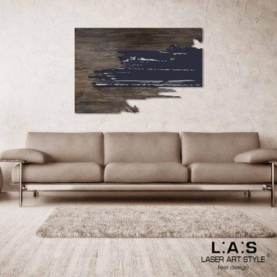Quadri Astratti </br> Codice: SI-258 | Misura: 150x100 cm </br> Colore:  decoro stucco industrial-blu petrolio
