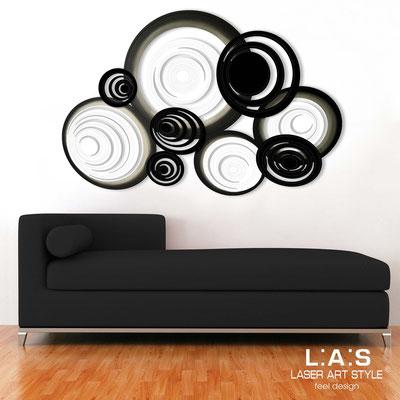 Quadri Astratti </br> Codice: SI-183 | Misura: 150x100 cm </br> Colore: bianco-nero-decoro nero-incisione tono su tono