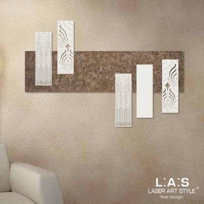 Quadri Astratti </br> Codice: SI-353 | Misura: 150x100 cm </br> Colore: decoro lava-panna-incisione legno