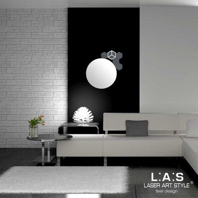 Specchiere </br> Codice: SI-321 | Misura: 60x65 cm </br>  Colore: antracite-grigio luce-incisione tono su tono