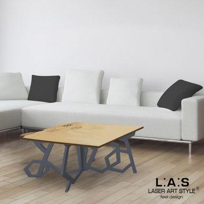 Complementi d'arredo </br> Codice: MW-317 | Misura: 100x60 h50 cm </br> Colore: natural wood-antracite-incisione legno