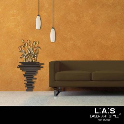 Quadri Floreali </br>  Codice: SI-193-H | Misura: 63x124 cm </br>  Colore: marrone-decoro toni caldi-incisione legno
