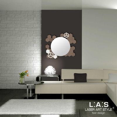 Specchiere </br> Codice: SI-311 | Misura: 90x75 cm </br>  Colore: grigio marrone-panna-incisione tono su tono