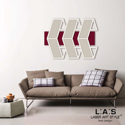 Abstract wall sculptures </br> Code: SI-307 | Size: 125x90 cm </br> Colour: burgundy-cream-wood engraving