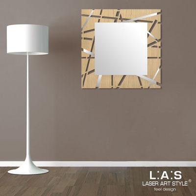 Specchiere </br> Codice: MW-095Q-SP | Misura: 90x90 cm </br>  Colore: natural wood-acciaio inox