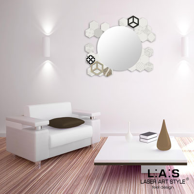 Mirrors </br> Code: SI-330 | Size: 90x75 cm </br>  Colour: cream-dove grey decoration-matched engraving