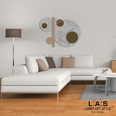 Quadri Astratti </br> Codice: SI-349 | Misura: 125x90 cm </br> Colore: cemento-nocciola-incisione legno