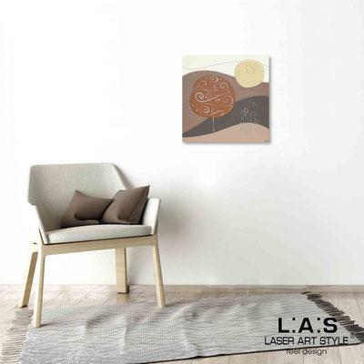 Quarantotto </br>  Codice: Q-014 | Misura: 48x48 cm </br> Colore: decoro ruggine-incisione legno