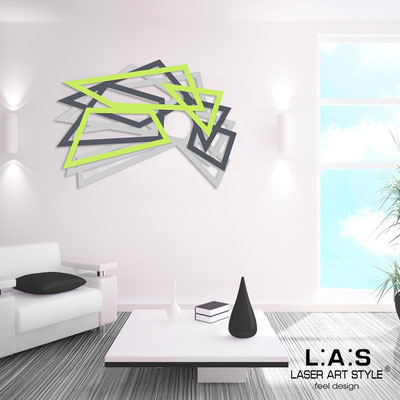 Abstract wall sculptures </br> Code: SI-186 | Size: 140x90 cm </br> Colour: light grey-charcoal grey-lime