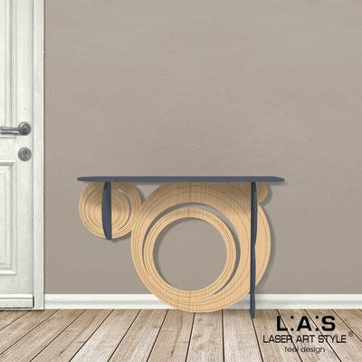 Complementi d'arredo </br> Codice: MW-280 | Misura: 120x40 h80 cm </br> Colore: antracite-natural wood-incisione legno