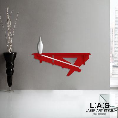 Complementi d'arredo </br> Codice: SI-291 | Misura: 110x30 cm </br> Colore: rosso-acciaio inox -incisione tono su tono