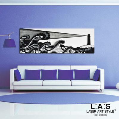 Figurative wall sculpture </br> Code: SI-176 | Size: 180x60 cm </br> Colour: white-black-black decoration-wood engraving