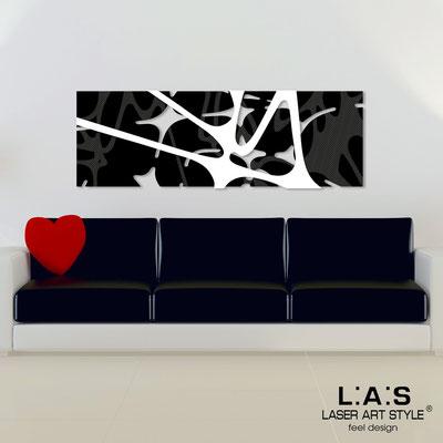 Quadri Astratti </br> Codice: SI-158 | Misura: 150x50 cm </br> Colore: nero-bianco-incisione legno