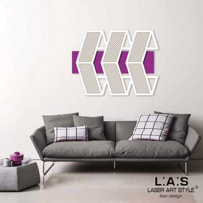 Abstract wall sculptures </br> Code: SI-307 | Size: 125x90 cm </br> Colour: violet-white-wood engraving