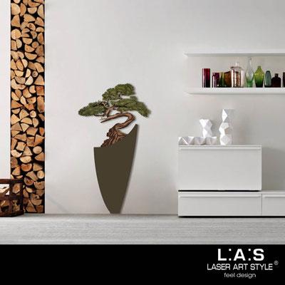 Quadri Floreali </br>  Codice: SI-192-F | Misura: 73x135 cm </br>  Colore: marrone-decoro verdone-incisione legno