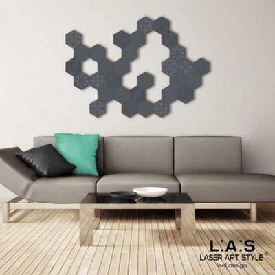 Abstract wall sculptures </br> Code: SI-301 | Size: 125x90 cm </br> Colour: charcoal grey-matched engraving