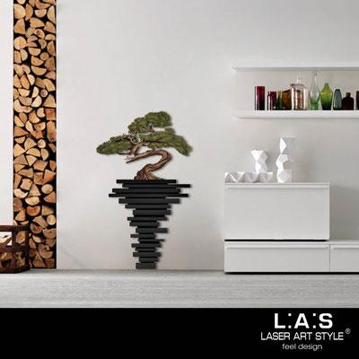 Quadri Floreali </br>  Codice: SI-192-H | Misura: 73x123 cm </br>  Colore: nero-decoro verdone-incisione legno