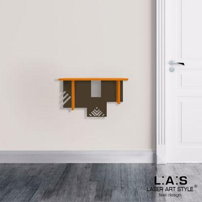 Complementi d'arredo </br> Codice: SI-360 | Misura: 60x30 cm </br> Colore: arancio medio-marrone-incisione legno