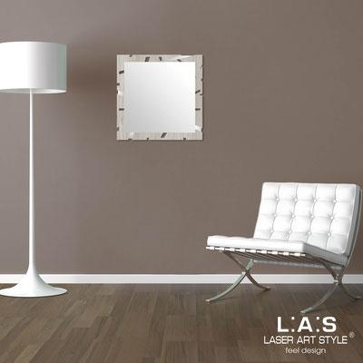 Specchiere </br> Codice: MG-318 | Misura: 60x60 cm </br>  Colore: grey wood-acciaio inox