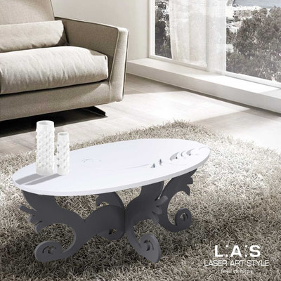 Furnishings </br> Code: SI-289   Size: 100x60 h40 cm </br> Colour: white-charcoal grey