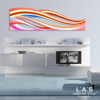 Abstract wall sculptures </br> Code: SI-114 | Size: 180x55 cm </br> Colour: multicoloured decoration-wood engraving