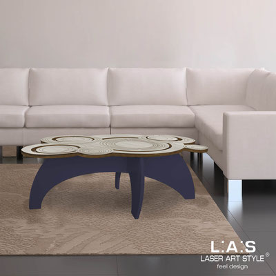 Furnishings </br> Code: MG-283   Size: 100x60 h40 cm </br> Colour: grey wood-navy blue-wood engraving