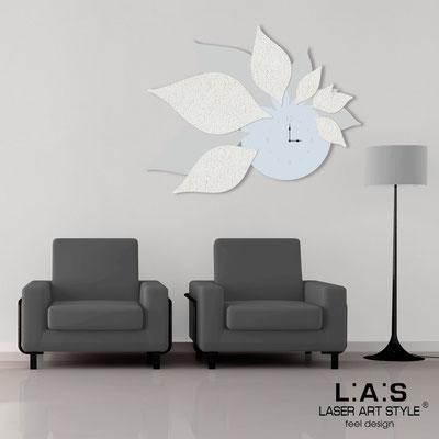 Wall clocks </br> Code: SI-210 | Size: 115x89 cm </br> Colour: grey light blue-light grey-original crystals-white stucco decoration