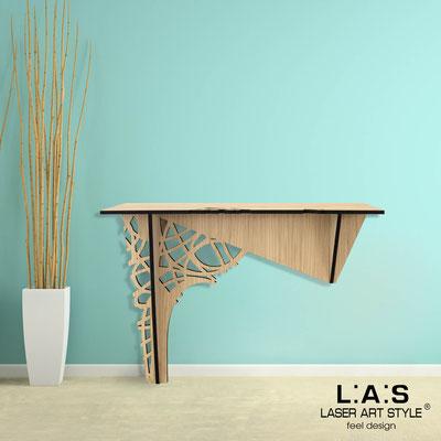 Complementi d'arredo </br> Codice: W-396 | Misura: 120x40 h80 cm </br> Colore: natural wood