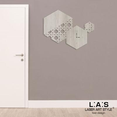 Wall clocks </br> Code: G-415L | Size: 100x80 cm </br> Colour: grey wood