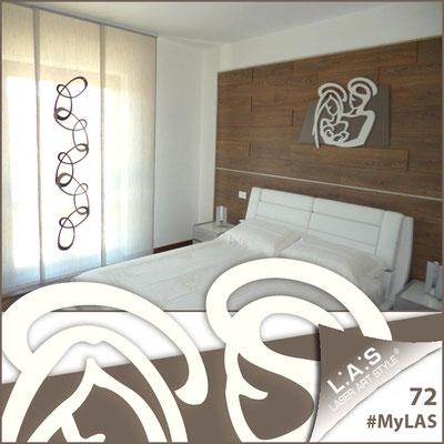 A casa di Rosalba e Filippo <br> Abitazione privata | Italia </br> Codice: SI-228XL | Misura: 90x70 cm </br> Colore: grigio marrone - panna