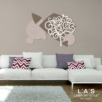 Floral wall sculpture </br> Code: SI-354 | Size: 142x100 cm </br> Colour: powder-dove grey-cream