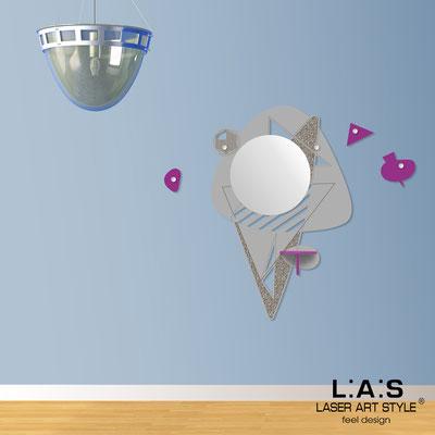 Complementi d'arredo </br> Codice: SI-379 | Misura: 100x150 cm </br> Colore: cemento-violetto-incisione legno
