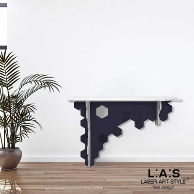 Furnishings </br> Code: SI-314   Size: 120x40 h80 cm </br> Colour: white-navy blue-matched engraving