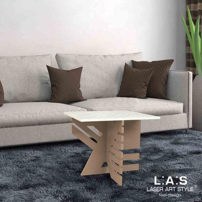 Furnishings </br> Code: SI-363   Size: 60x60 h50 cm </br> Colour: cream-hazel-wood engraving