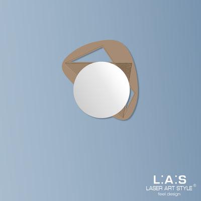 Specchiere </br> Codice: SI-375 | Misura: 67x60 cm </br>  Colore: nocciola-incisione legno
