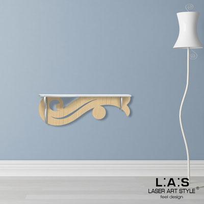 Complementi d'arredo </br> Codice: MW-285 | Misura: 110x30 cm </br> Colore: bianco-natural wood