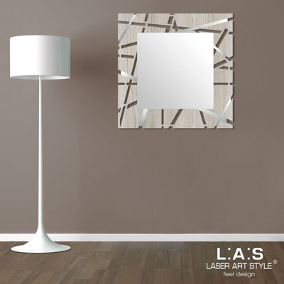 Mirrors </br> Code: MG-095Q-SP | Size: 90x90 cm </br>  Colour: grey wood-inox steel