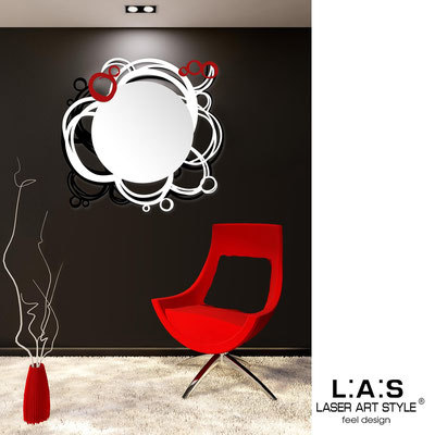 Mirrors </br> Code: SI-204Q-SP | Size: 90x85 cm </br>  Colour: black-white-red
