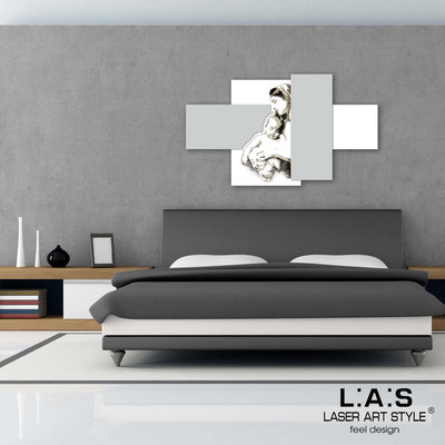 Sacred wall sculptures </br> Code: SI-162 | Size: 120x70 cm </br> Colour: white-light grey-black engraving