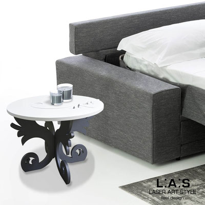 Furnishings </br> Code: SI-288 | Size: 60x60 h40 cm </br> Colour: white-charcoal grey