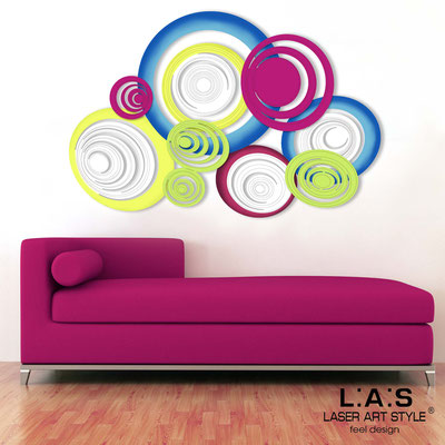 Abstract wall sculptures </br> Code: SI-183 | Size: 150x100 cm </br> Colour: white-crimson-lime-multicoloured decoration-matched engraving