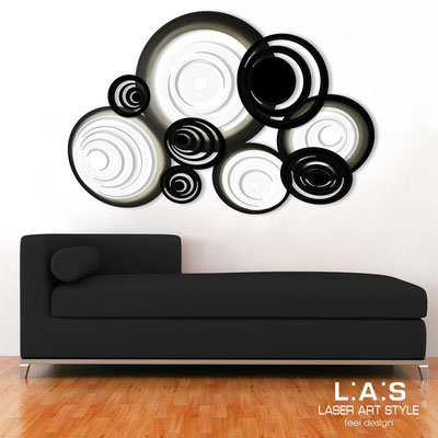 Abstract wall sculptures </br> Code: SI-183 | Size: 150x100 cm </br> Colour: white-black-black decoration-matched engraving